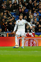 Real Madrid´s Sergio Ramos during 2014-15 La Liga match between Real Madrid and Levante UD at Santiago Bernabeu stadium in Madrid, Spain. March 15, 2015. (ALTERPHOTOS/Luis Fernandez)