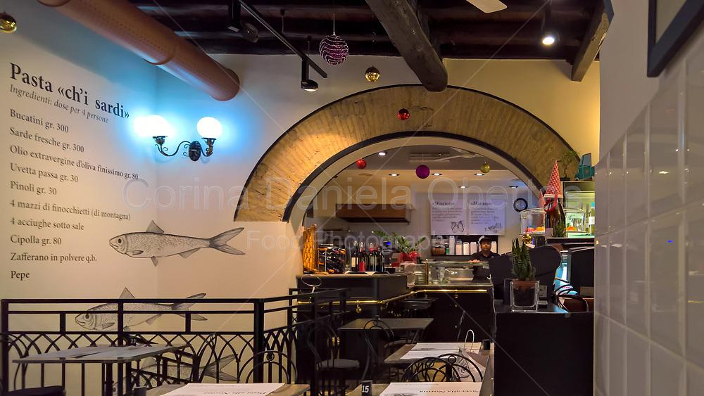 Ex location of Antica Focacceria S. Francesco, restaurant with typical sicilian cuisine and street food.