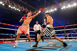 Andrew Selby (black/white shorts) beats Louis Norman (pink/white shorts) by Unanimous Decision to win the vacant BBBofC British Flyweight Title<br />  - Mandatory byline: Rogan Thomson/JMP - 14/05/2016 - BOXING - Ice Arena Wales - Cardiff, Wales - Lee Haskins v Ivan Morales - IBF World Bantamweight Title.