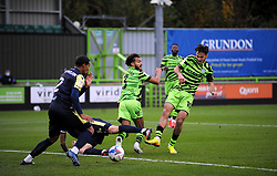 Aaron Collins of Forest Green Rovers shoots at goal- Mandatory by-line: Nizaam Jones/JMP - 17/10/2020 - FOOTBALL - innocent New Lawn Stadium - Nailsworth, England - Forest Green Rovers v Stevenage - Sky Bet League Two