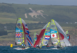 03.08.2012, Bucht von Weymouth, GBR, Olympia 2012, Segeln, im Bild White Horse, Dorset // during Sailing, at the 2012 Summer Olympics at Bay of Weymouth, United Kingdom on 2012/08/03. EXPA Pictures © 2012, PhotoCredit: EXPA/ Daniel Forster ***** ATTENTION for AUT, CRO, GER, FIN, NOR, NED, POL, SLO and SWE ONLY!