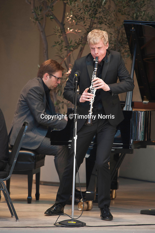 Leif Ove Andsnes and Martin Fröst perform Alban Berg's Four Pieces for clarinet and piano at the 66th Ojai Music Festival on June 9, 2012 in Ojai California.