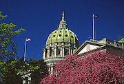 Pennsylvania Capitol Dome and Spring Blossoms, National Registry of Historic Places, National Historic Landmarks