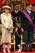 BRUSSELS, BELGIUM - 21/07/2007 - ROYALTY, Royal family at the Belgian National day, King Albert II and Queen Paola...Pict by © Christophe VANDER EECKEN