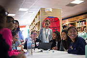 Students from Russell Middle School collaborate during the Jack Emery Drive Brunch at Milpitas High School in Milpitas, California, on November 3, 2015. (Stan Olszewski/SOSKIphoto)