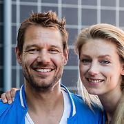 NLD/Utrecht/20160825 - Start Spieren voor Spieren actie, Reinder Nummerdor en partner Manon Flier