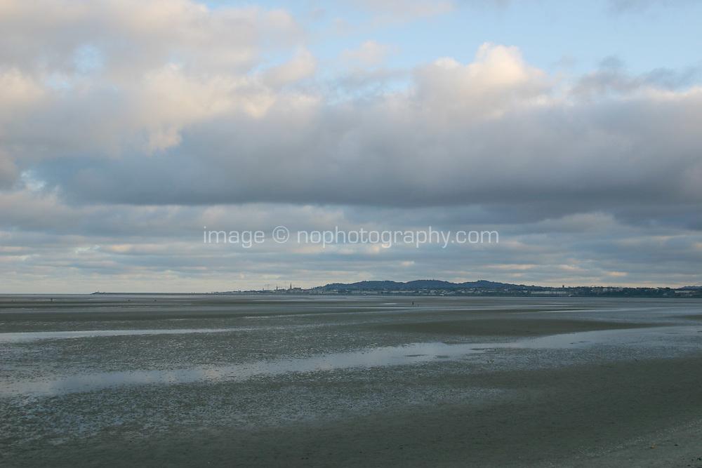 Sandymount Strand looking towards Dun Laoghaire, Dublin, Ireland