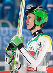 06.01.2015, Paul Ausserleitner Schanze, Bischofshofen, AUT, FIS Ski Sprung Weltcup, 63. Vierschanzentournee, Finale, im Bild Peter Prevc (SLO) // Peter Prevc of Slovenia reacts after his first Final Jump of 63rd Four Hills Tournament of FIS Ski Jumping World Cup at the Paul Ausserleitner Schanze, Bischofshofen, Austria on 2015/01/06. EXPA Pictures © 2015, PhotoCredit: EXPA/ Johann Groder