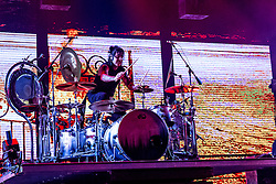 LOS ANGELES, CA - JUNE 20: Drum and percussion player Alex Gonzalez of legendary Mexican Rock band Mana perfoms on stage during their Cama Incendiada Tour at Staples Center on June 20, 2015 in Los Angeles, California. Byline, credit, TV usage, web usage or linkback must read SILVEXPHOTO.COM. Failure to byline correctly will incur double the agreed fee. Tel: +1 714 504 6870.