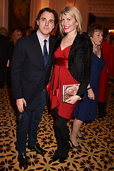 Sacha Newley and Meredith Ostrom at a reception to celebrate the publication on 'Mother Anguish' by Basia Briggs held in The Music Room, The Ritz Hotel, 150 Piccadilly, London, England. 04 December 2017.