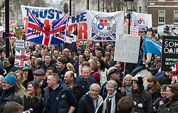 © Licensed to London News Pictures. 23/03/2016. London, UK. Farmers demonstrate in London in support of the farming sector. Photo credit: Peter Macdiarmid/LNP