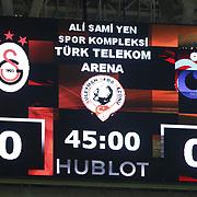 Galatasaray's and Trabzonspor's during their Turkish superleague soccer derby match Galatasaray between Trabzonspor at the AliSamiYen spor kompleksi TT Arena in Istanbul Turkey on Saturday, 22 November 2014. Photo by Aykut AKICI/TURKPIX