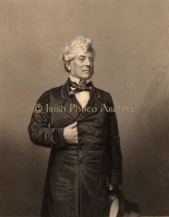 William Shee (1804-1868) Irish lawyer born in Kilkenny.  The first Roman Catholic judge appointed in Ireland since 1690.  Engraving from 'The Illustrated News of the World' (London, c1860).