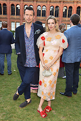 Tom Montgomery and Greta Bellamacina at the Victoria & Albert Museum's Summer Party in partnership with Harrods at The V&A Museum, Exhibition Road, London, England. 20 June 2018.