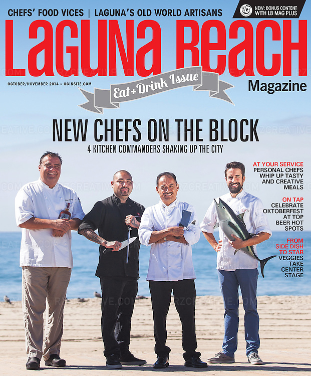 Top local chefs for Laguna Beach magazine. Photo © Robert Zaleski / rzcreative.com