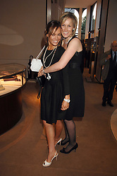 Left to right, sisters TARA PALMER-TOMPKINSON and SANTA SEBAG-MONTEFIORE at a party to celebrate the publication of 'Young Stalin' by Simon Sebag-Montefiore at Asprey, New Bond Street, London on 14th May 2007.<br /><br />NON EXCLUSIVE - WORLD RIGHTS