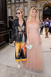 Helena Bordon, Lala Rudge arriving at the Valentino show as a part of Paris Fashion Week Ready to Wear Spring/Summer 2017 on October 2, 2016 in Paris, France. Photo by Julien Reynaud/APS-Medias/ABACAPRESS.COM