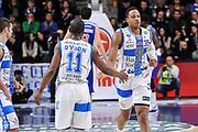 DESCRIZIONE : Campionato 2014/15 Serie A Beko Dinamo Banco di Sardegna Sassari - Acqua Vitasnella Cantu'<br /> GIOCATORE : Jerome Dyson Kenneth Kadji<br /> CATEGORIA : Fair Play<br /> SQUADRA : Dinamo Banco di Sardegna Sassari<br /> EVENTO : LegaBasket Serie A Beko 2014/2015<br /> GARA : Dinamo Banco di Sardegna Sassari - Acqua Vitasnella Cantu'<br /> DATA : 28/02/2015<br /> SPORT : Pallacanestro <br /> AUTORE : Agenzia Ciamillo-Castoria/L.Canu<br /> Galleria : LegaBasket Serie A Beko 2014/2015