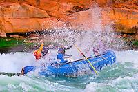 Whitewater rafting, House Rock Rapid, Marble Canyon, Colorado River, Grand Canyon National Park, Arizona USA