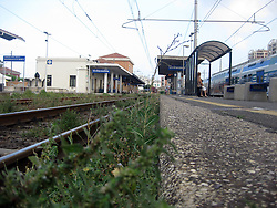 The train station at Civitavecchia. It is a town and comune of the province of Rome in the central Italian region of Lazio. Civitavecchia is a major cruise and ferry port, 1st July, 2011..©Pic : Michael Schofield.