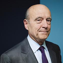 Paris, France. April 30, 2014. Alain Juppé, former Prime Minister and currently the Mayor of Bordeaux, in Le Monde's headquarter. Photo: Antoine Doyen