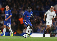 12th September 2017, Stamford Bridge, London, England; UEFA Champions League Group stage, Chelsea versus Qarabag FK; Ngolo Kante of Chelsea in action <br /> Norway only