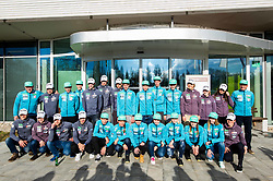 Group photo during press conference of Slovenian Nordic Ski team before new season 2017/18, on November 14, 2017 in Gorenje, Ljubljana - Crnuce, Slovenia. Photo by Vid Ponikvar / Sportida
