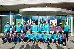 Group photo during press conference of Slovenian Nordic Ski team before new season 2017/18, on November 14, 2017 in Gorenje, Ljubljana - Crnuce, Slovenia. Photo by Vid Ponikvar / Sportida