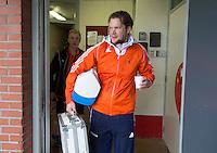 ABCOUDE - Fysio jong oranje, Bas vd Pol. VOLVO JUNIOR CUP hockey . Abcoude C1  en Heerhugowaard   strijden in Abcoude om de cup. Heerhugowaard wint met 3-1. COPYRIGHT KOEN SUYK