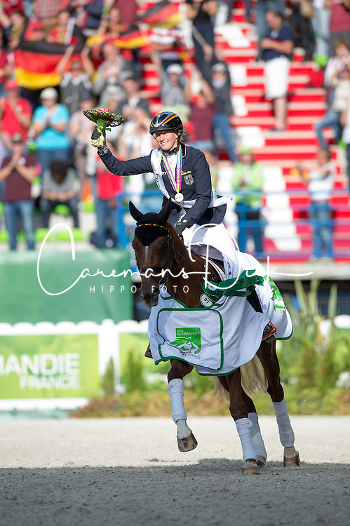 Sandra Auffarth and Opgun Louvo world champion in Eventing - Alltech FEI World Equestrian Games™ 2014 - Normandy, France.<br /> © Hippo Foto Team - Jon Stroud<br /> 31-08-14