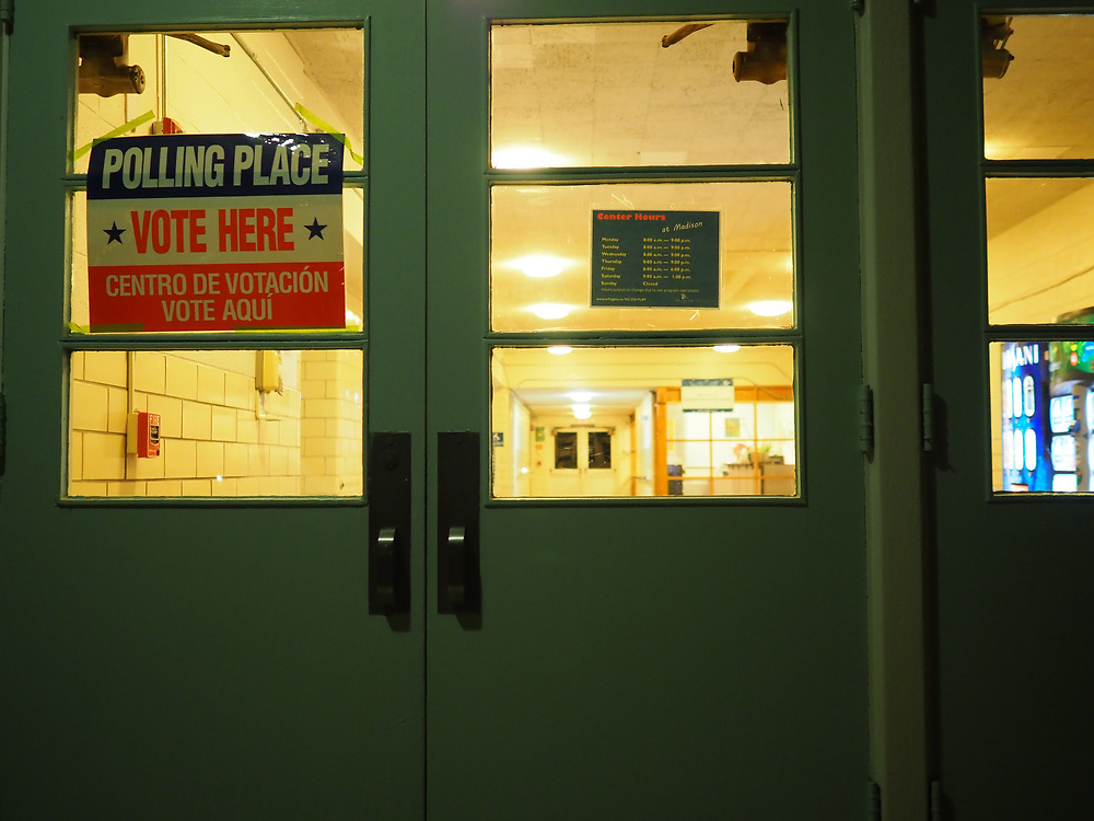 Arlington, VA polling sites ready to open on Presidential Primary Day.