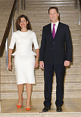 Nick Clegg and wife at Lib Dem conference 26-9-12