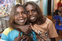 Children at Save the Children Australia's Chilling Space program  in Kununurra, Western Australia.  The Chilling Space provides a safe place for children to come to every night for supervised activities and fun with other children in the community
