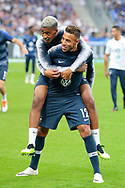 CORENTIN TOLISSO (FRA), PRESNEL KIMPEMBE (FRA) during the UEFA Nations League, League A, Group 1 football match between France and Netherlands on September 9, 2018 at Stade de France stadium in Saint-Denis near Paris, France - Photo Stephane Allaman / ProSportsImages / DPPI