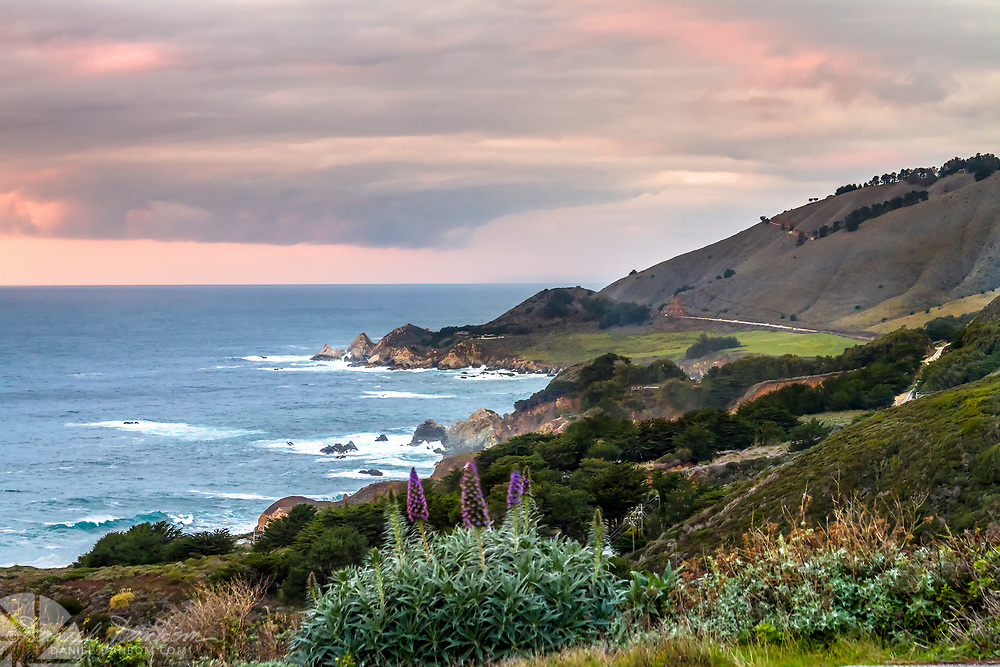 Looking north to Rocky Point on the Big Sur Coast, Highway 1, California