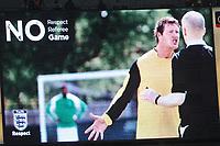 Photo: Tony Oudot/Richard Lane Photography.  England v Czech Republic. International match. 20/08/2008. <br /> No Respect ad on the scoreboard .