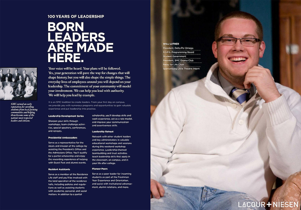 Viewbook Project for Spartanburg Methodist College, Spartanburg, S.C. Design by Whipp, Inc. (www.whipp.me)
