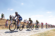 Niki Terpstra (NED - QuickStep - Floors) pass the first cobblestone section during the 105th Tour de France 2018, Stage 9, Arras Citadelle - Roubaix (156,5km) on July 15th, 2018 - Photo George Deswijzen / Proshots / ProSportsImages / DPPI