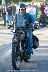 Rich Rau riding his 1916 Indian Powerplus in the Motorcycle Cannonball coast to coast vintage run. Stage 8 (314 miles) from Spirit Lake, IA to Pierre, SD. Saturday September 15, 2018. Photography ©2018 Michael Lichter.