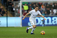 Angel Rangel of Swansea city in action. Premier league match, Swansea city v Burnley at the Liberty Stadium in Swansea, South Wales on Saturday 4th March 2017.<br /> pic by Andrew Orchard, Andrew Orchard sports photography.