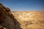 Dead Sea landscape as seen from the top of Masada national park, Israel