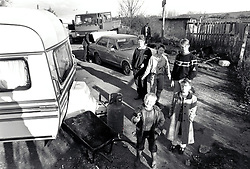 Travellers, Bullwell, Nottingham UK 1989