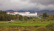 Mt Washington Hotel behind golf course.