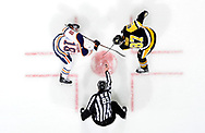 PITTSBURGH, PA - OCTOBER 24:  Sidney Crosby #87 of the Pittsburgh Penguins and Ryan Strome #18 of the Edmonton Oilers take a face-off at PPG Paints Arena on October 24, 2017 in Pittsburgh, Pennsylvania.  (Photo by Joe Sargent/NHLI via Getty Images) *** Local Caption ***