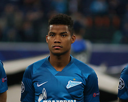 November 5, 2019, Saint-Petersburg, Russia: Russian Federation. Saint-Petersburg. Gazprom Arena. Football. UEFA Champions League. Group G. round 4. Football club Zenit - Football Club RB Leipzig. Player of Zenit football club Wilmar Barrios (Credit Image: © Russian Look via ZUMA Wire)
