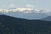 View of the Luchonais massif from near Col de Mente, Haute-Garonne, France.