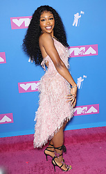 August 21, 2018 - New York City, New York, USA - 8/20/18.SZA at the 2018 MTV Video Music Awards held at Radio City Music Hall in New York City..(NYC) (Credit Image: © Starmax/Newscom via ZUMA Press)