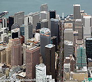 aerial photograph McKesson Plaza, 333 Bush Street, Market Street, Ferry Building and other skyscrapers San Francisco