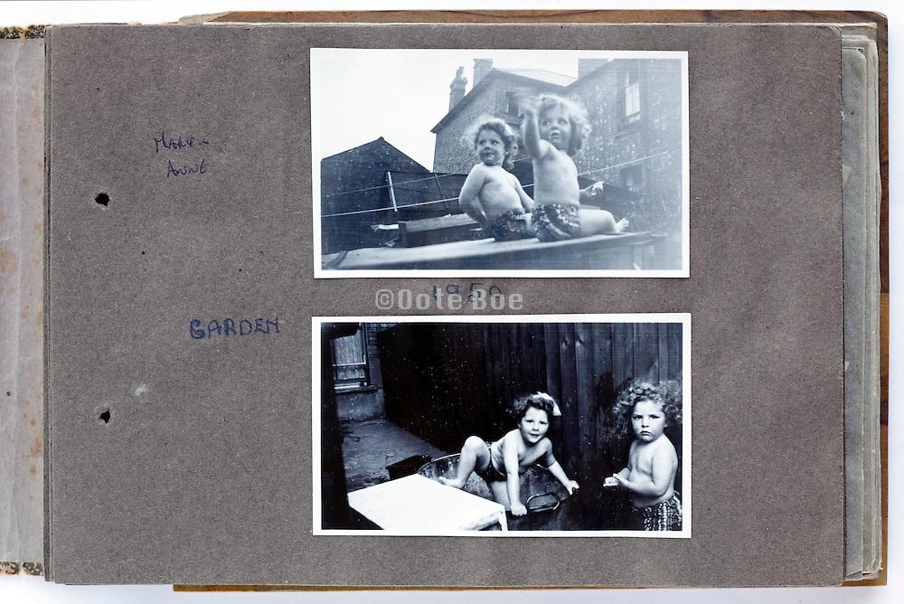 happy family moments photo album page 1950 England