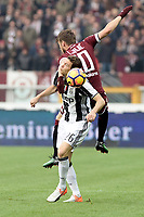 Srephan Lichtsteiner Juventus e Adem Ljajic Torino<br /> Torino 11-12-2016 Stadio Olimpico Grande Torino <br /> Fotball Calcio Serie A 2016/2017 Torino - Juventus  <br /> Foto Massimo Pinca Insidefoto